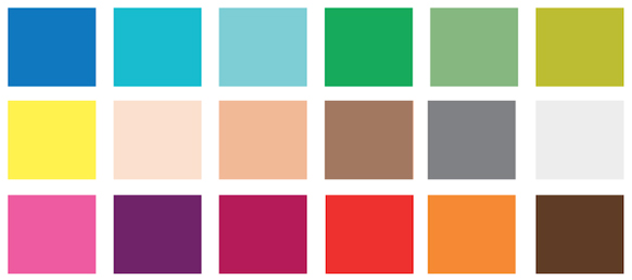 Colours that should and shouldn't be worn when when appearing on video